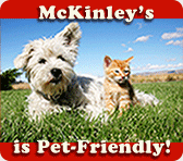 McKinley's is pet friendly